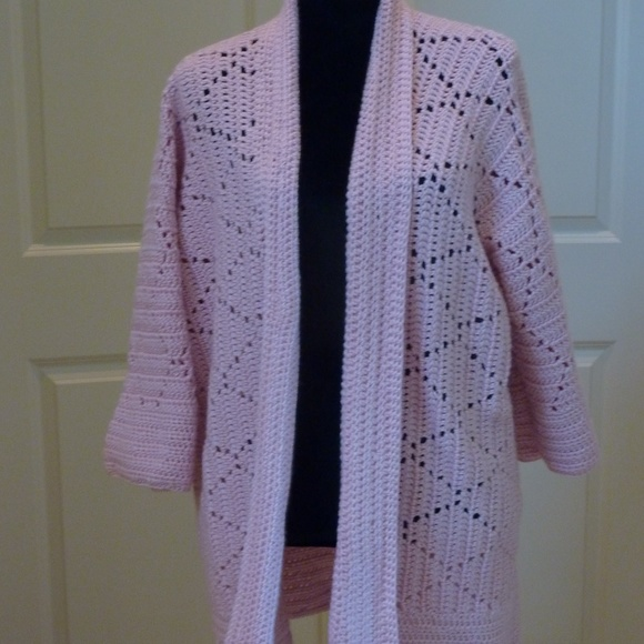 Handcrafted Jackets Coats Crochet Womens Sweater Jacket By